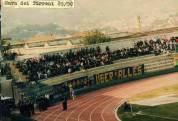 """Frosinone: striscione """"Skinheads"""" in trasferta contro la Cavese, serie C2 1989-1990"""