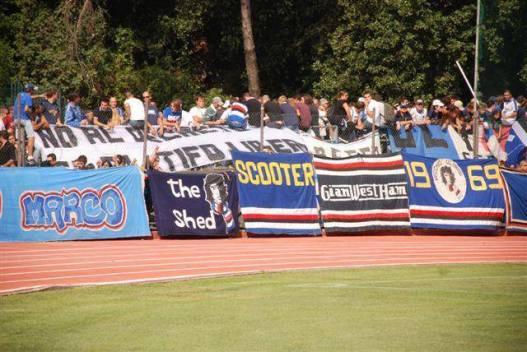 "Sampdoria: Pezza ultras ""scooter"" Gradinata Sud Genova"