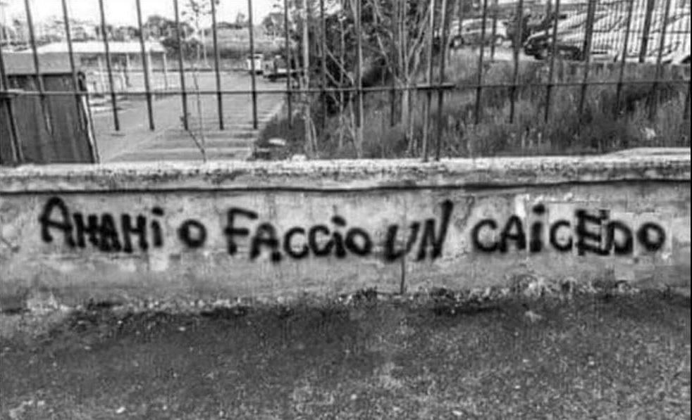 Amami O Faccio Un Caicedo Scritto Sul Muro Football A 45 Giri