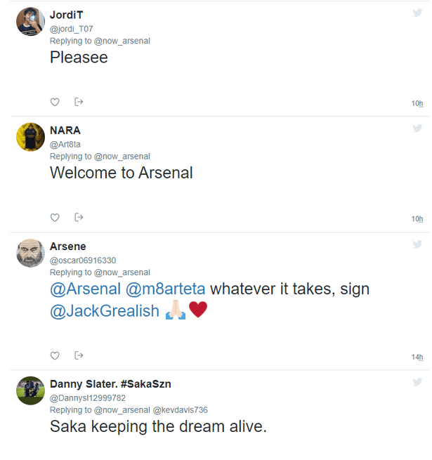 Arsenal fans in transfer meltdown after Jack Grealish's six-word admission