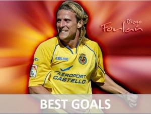 Villareal best player Diego Forlan