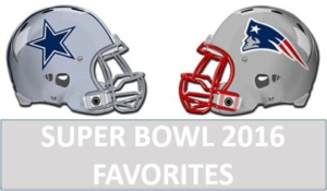 Favorites to win the Superbowl 2016