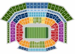 Super Bowl 2016 Seating Map