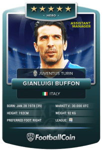 FootballCoin Assistant Manager Collectible Card