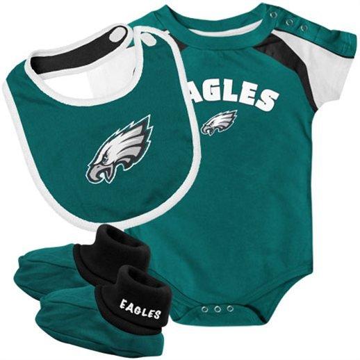 f3ec25c8f Baby Philadelphia Eagle, 76er, Phillie Onesie, Tee 6m, 12m - Football  Creepers