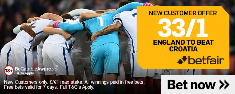 England Croatia New customers offer Betfair