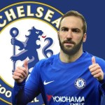 Higuain in Chelsea shirt