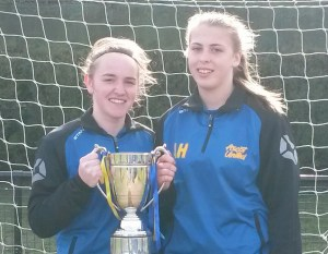 Ascot United goalscorers Brogan Moore and Anaisa Harney.