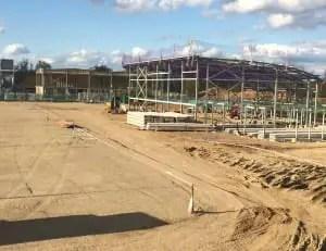 Slough Town's Arbour Park ground under construction. Photo: Neil Baker.