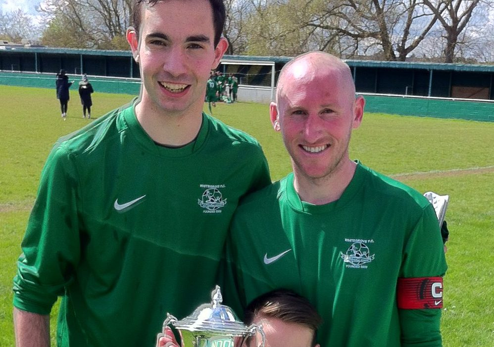 Ben Poynter and Lee Kilmartin with the County Cup. Photo: Darrell Freeland.