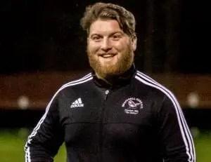 Bracknell Town under 21s manager Liam Day. Photo: Neil Graham.