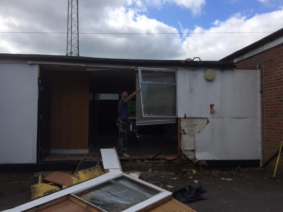 Demolition work begins at Bracknell Town's Larges Lane ground