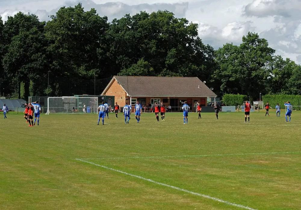 Sandhurst Town's Bottom Meadow ground. Photo: Mark Pugh.