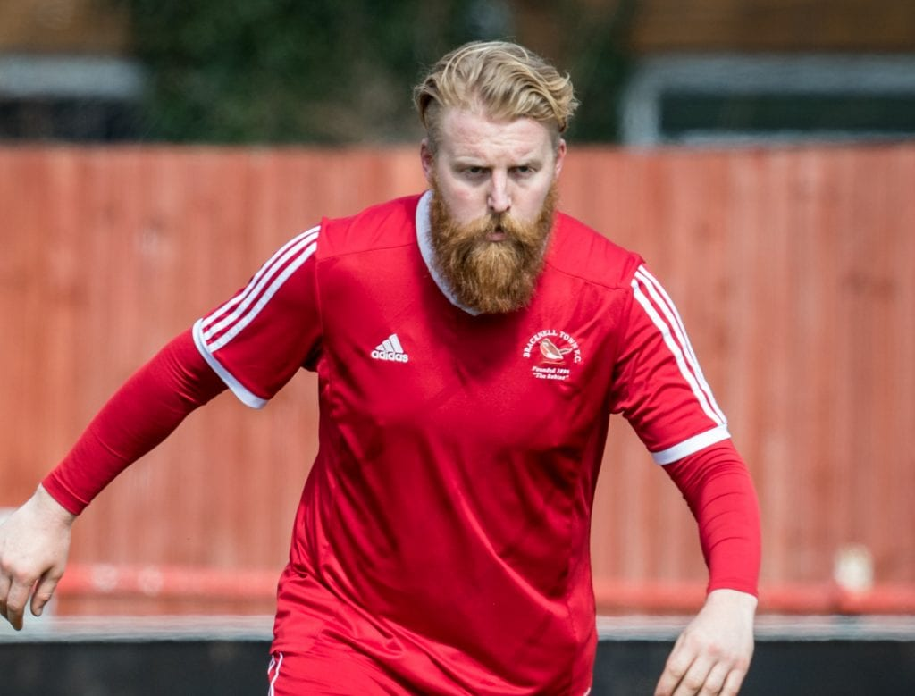 The Hellenic Leagues best beard - Callum Whitty. Photo: Neil Graham.