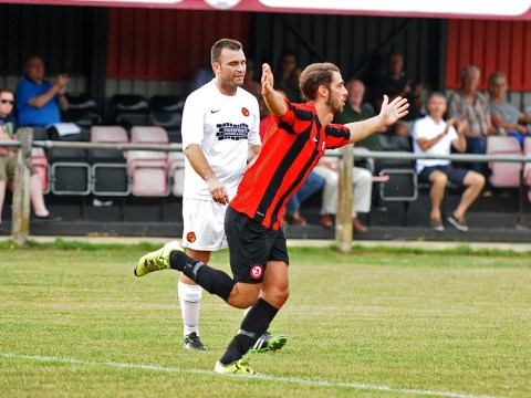 Harlowe and Malone give Sandhurst Town FC win in heated Berkshire derby