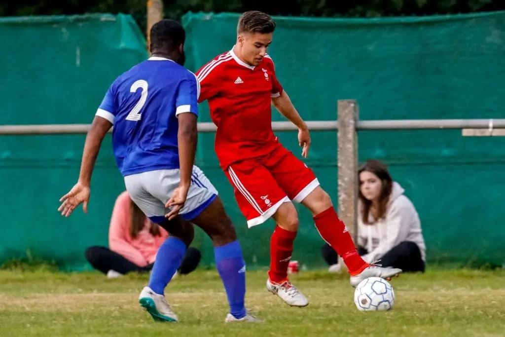 Khalid Senussi of Bracknell Town FC. Photo: Neil Graham.