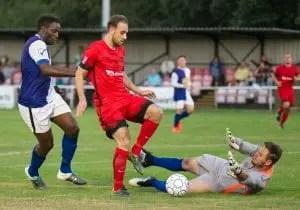 Binfield FC's Liam Ferdinand. Photo: Colin Byers.