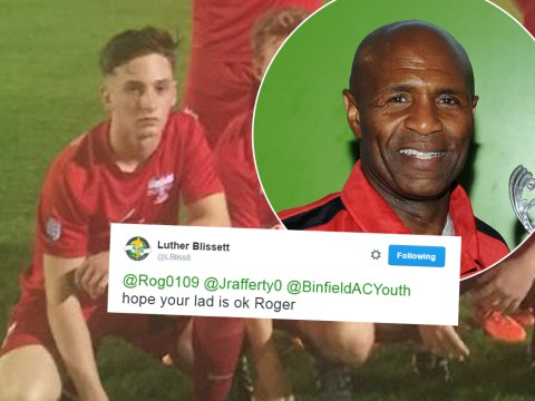Luther Blissett sends 'best wishes' to Binfield FC youngster after ankle break