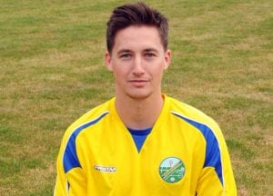 Ascot United's striker Ben Knight. Photo: Mark Pugh.