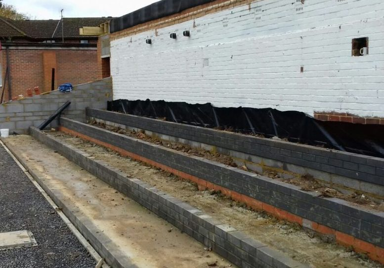 The new main stand at Larges Lane. Photo: Colin Howard.