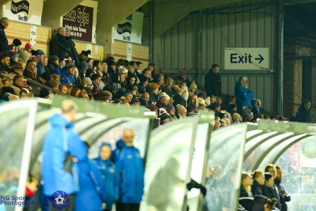 The crowd for Reading FC Women vs Doncaster Belles. Photo: Neil Graham.