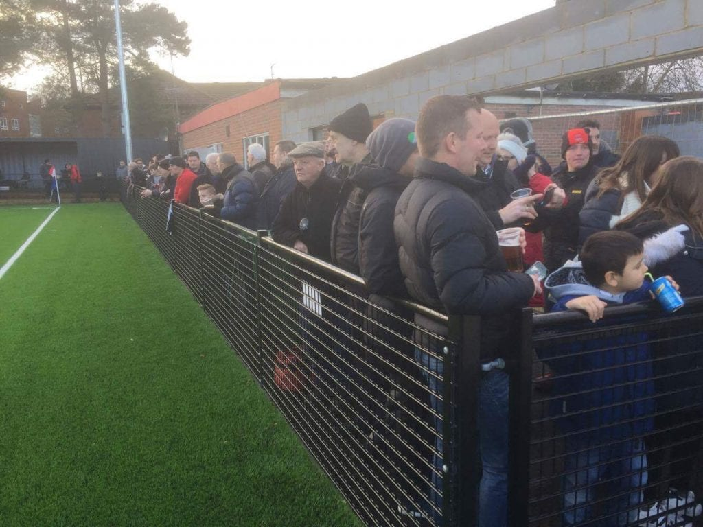 178 watched Bracknell Town vs Tuffley Rovers at Larges Lane. Photo: Neil Graham.