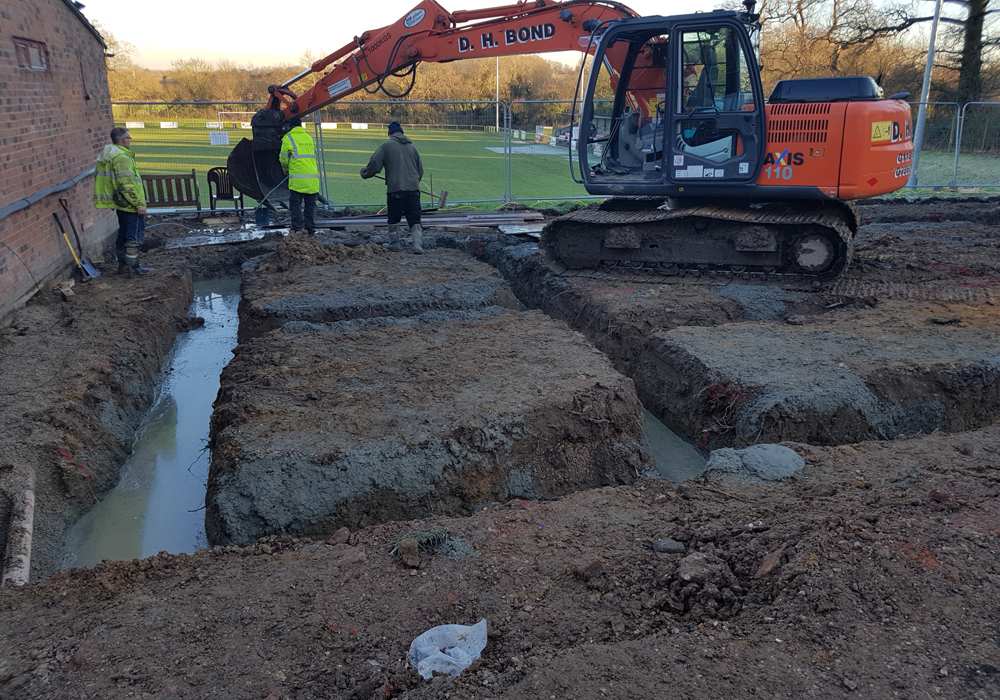 Work is underway at Binfield FC's Hill Farm Lane ground