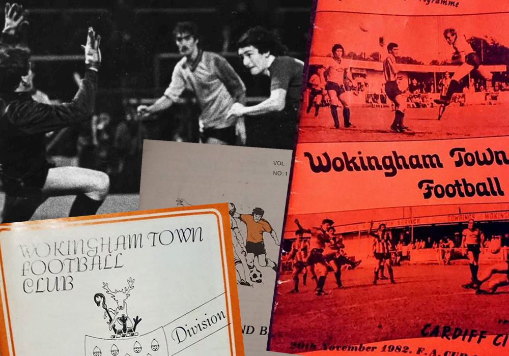 Wokingham Town FC programmes: From Cardiff City to an FA Trophy semi-final