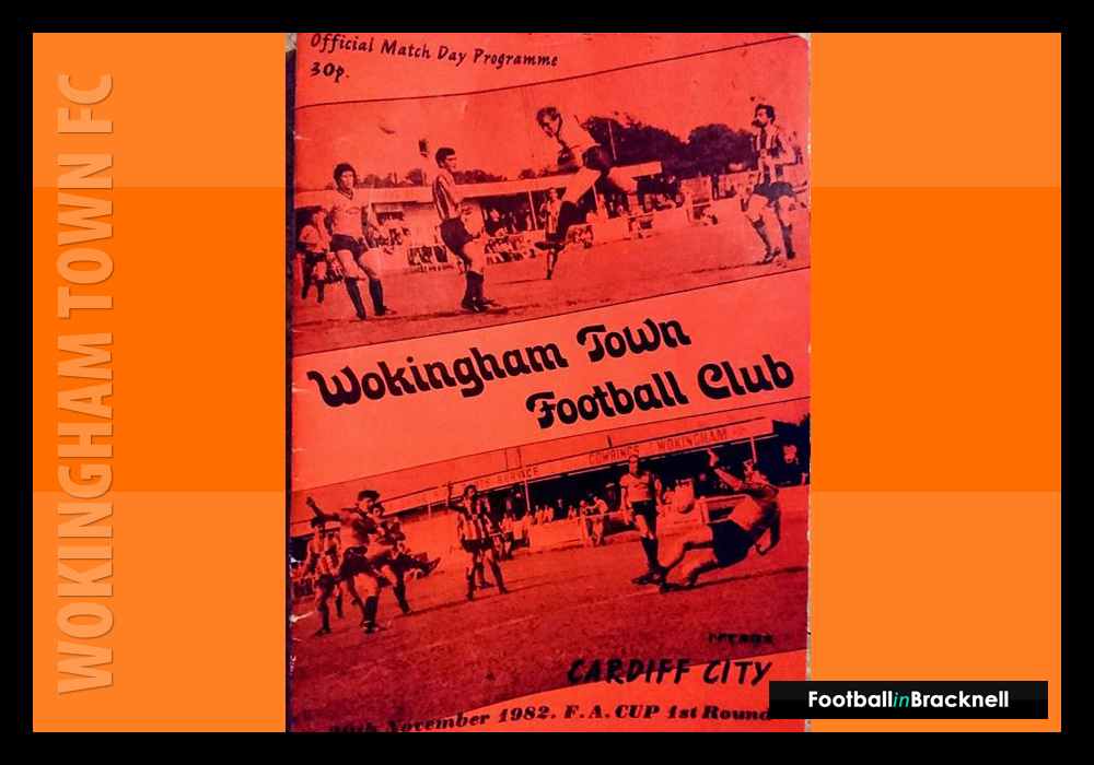 Programme from Wokingham Town vs Cardiff City in the FA Cup. Photo: Sean Chandler.