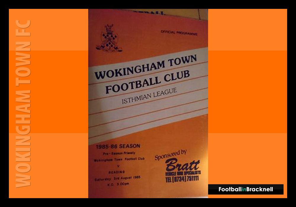 Programme from Wokingham Town vs Reading FC. Photo: Sean Chandler.