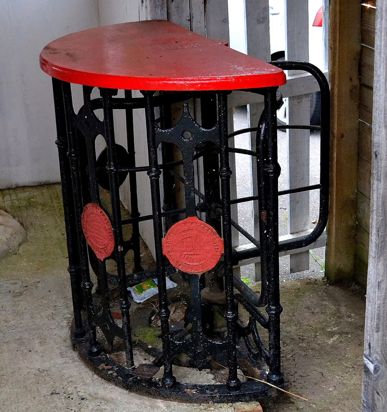 One of the three turnstiles that were installed at Larges Lane. Photo: Hopping Around Hampshire blog.
