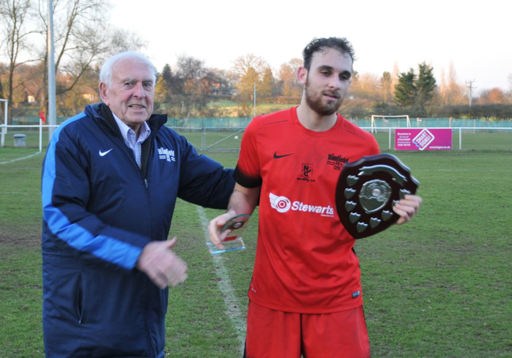 Liam Ferdinand picks up Binfield player of the month award