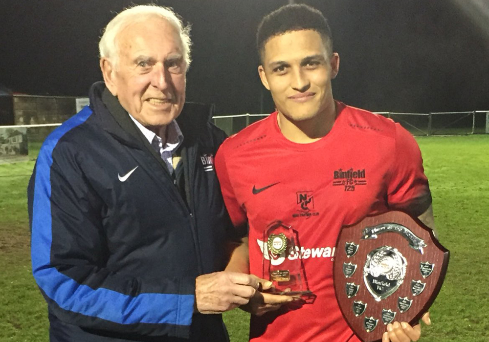 Harrison Bayley named Binfield FC player of the month