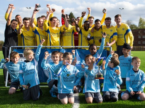 Woodley United have been taking the County Cup on tour