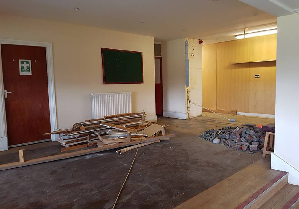 Clubhouse refurbishment underway at Binfield