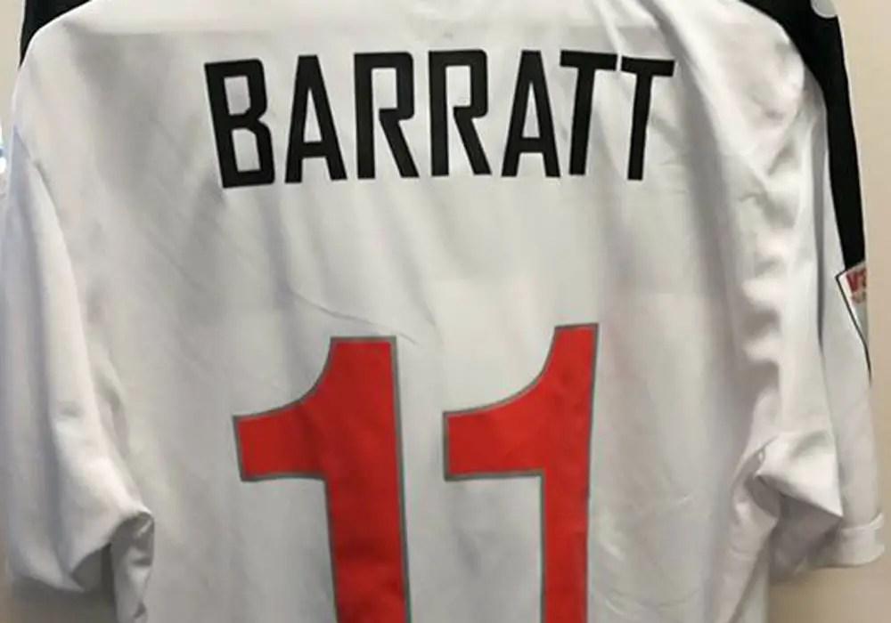 Sam Barratt's Maidenhead United shirt. Photo: Sam Barratt.