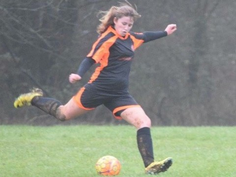 Alice Lilley scores twice in Wokingham & Emmbrook Ladies first ever competitive game