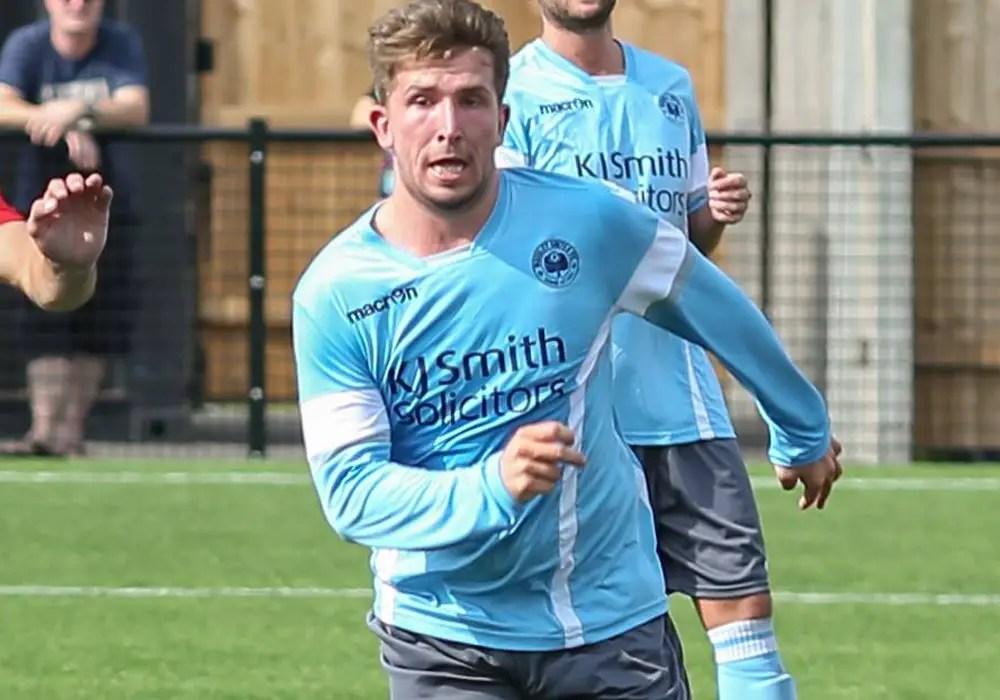 Woodley United captain Jake Nicholls. Photo: Neil Graham.