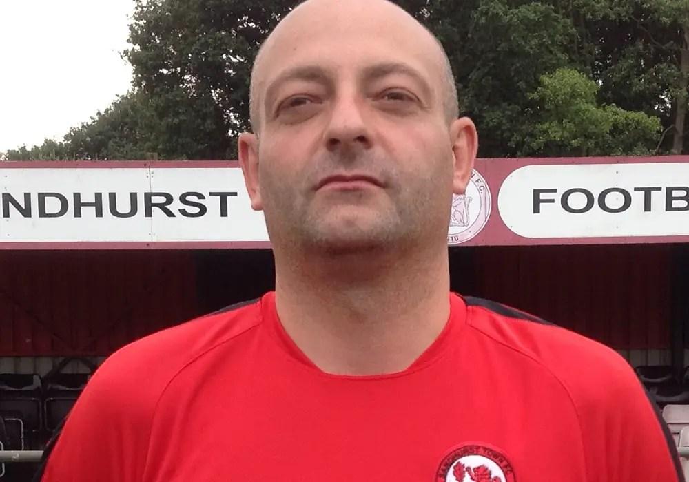 Sandhurst Town coach Lee Pollard.