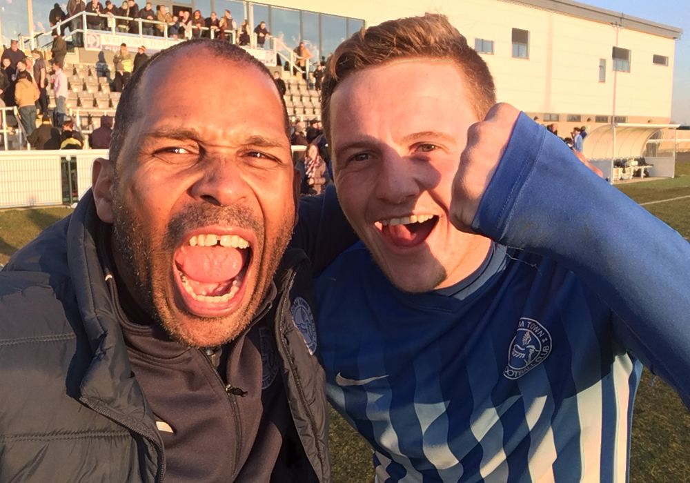 Ex Bracknell Town duo tasting FA Vase success with Thatcham Town