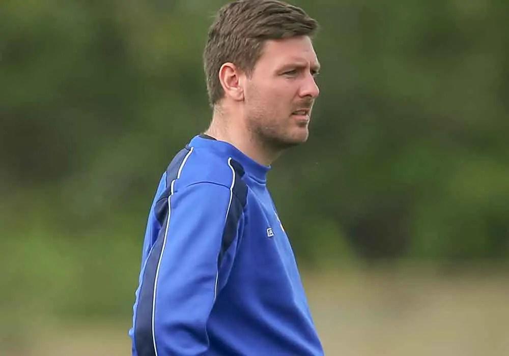 Jamie Tompkins Ascot United FC. Photo: Neil Graham.