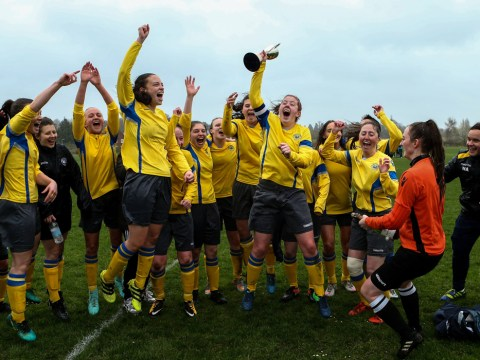 Woodley United Ladies seal promotion with big win