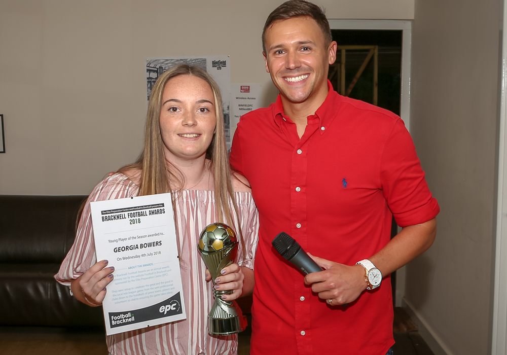 Ascot United's Georgia Bowers was Young Player of the Season. Photo: Neil Graham