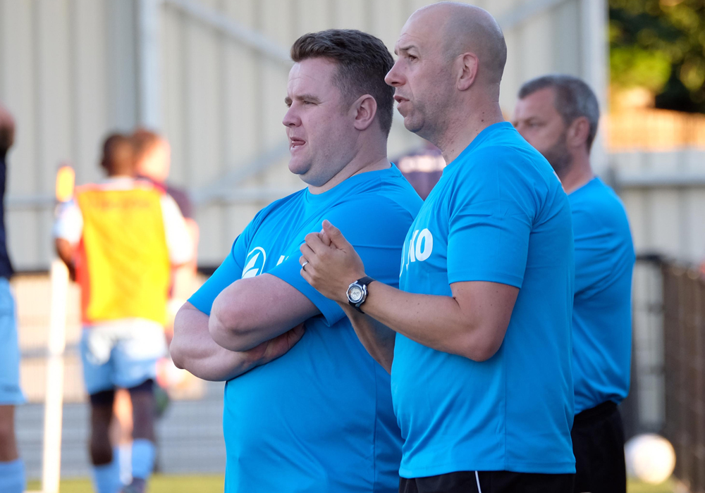 Slough Town managers Neil Baker and Jon Underwood. Photo: Windsor Observer.