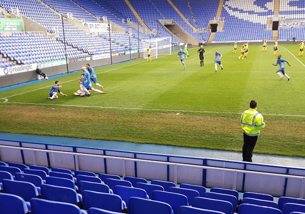 Marlow United secure league and cup double at Madejski Stadium final