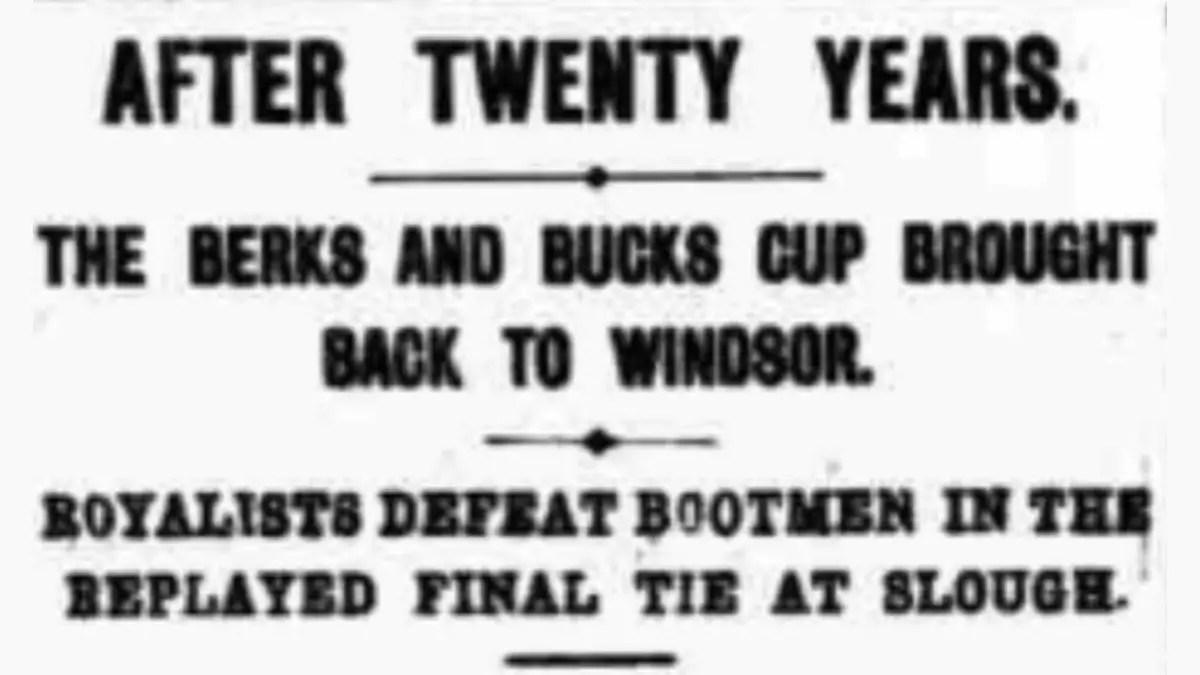 The 1911 Berks & Bucks County FA Senior Cup Final