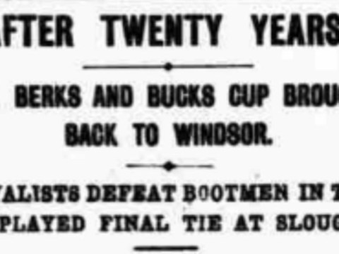The 1911 Berks & Bucks County FA Senior Cup Final