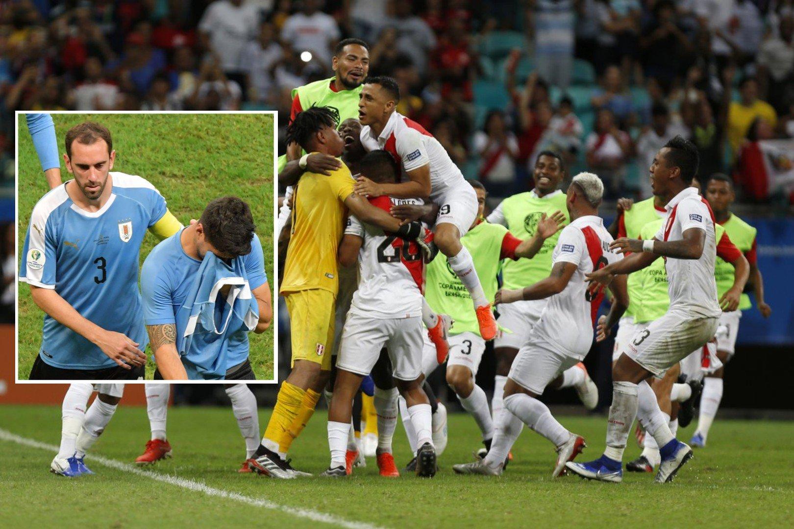 कोपा अमेरिका : स्वारेज पेनाल्टीमा चुक्दा उरुग्वे आउट, पेरु सेमिफाइनलमा !
