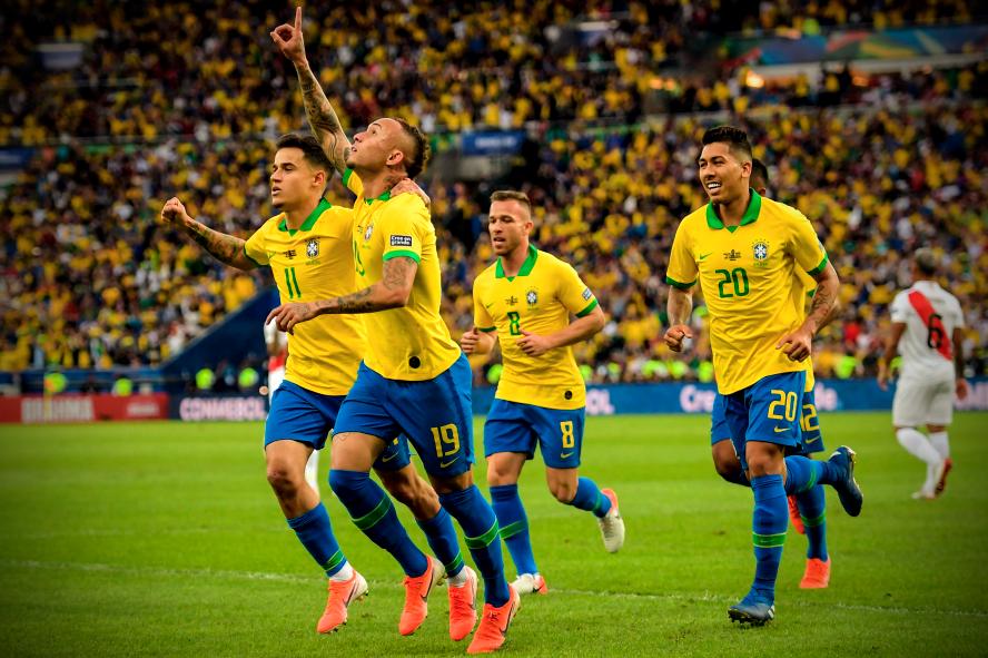 कोपा अमेरिका फाइनल : पहिलो हाफमा ब्राजिललाई २–१ को अग्रता !