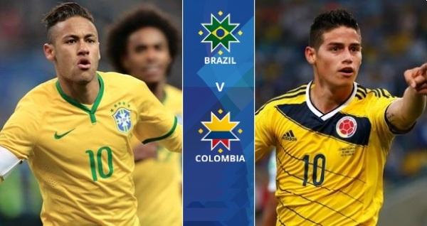 ब्राजिल र कोलम्बियाको रोमाञ्चक खेल हुँदै